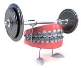 забавные зубы — Стоковое фото
