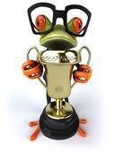 Rana con premio — Foto de Stock