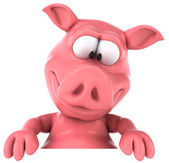 Fun pig — Stock Photo