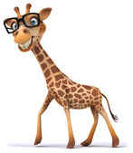 Fun giraffe with glasses — Stock Photo