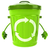 Trash bin — Stock Photo