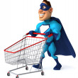Fun superhero — Stock Photo