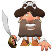 Fun pirate — Stock Photo