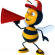 Cartoon bee — Stock Photo