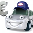 Fun smiling car with euro sign — Stock Photo #29788881