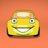 Fun yellow car — Foto de Stock