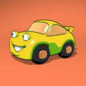 Fun yellow car — Photo