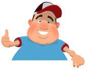 Overweight man — Stock Photo
