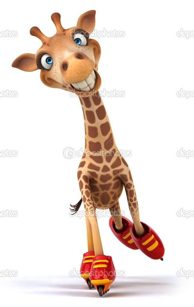 Divertente giraffa foto stock julos 30479571 - Cartone animato giraffe immagini ...