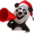 New years panda — Stock Photo