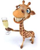 Divertido girafa — Foto Stock