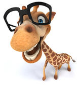 Fun giraffe — Foto Stock