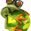 Frog protecting the earth — Stockfoto