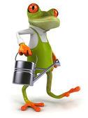 Frog gardener — Stock Photo