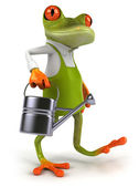 カエルの庭師 — ストック写真