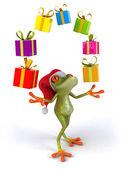 Vánoční žába — Stock fotografie