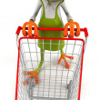 Frog - buyer with sidecar — Stock Photo #34366955