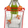 Stock Photo: Frog - buyer with sidecar