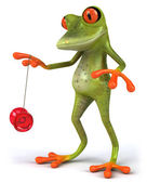 Frog with yoyo — Stock Photo