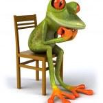 Thoughtful frog — Stock Photo