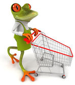 Frog - buyer with sidecar — Stock Photo
