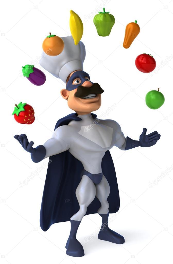 Super chef haciendo malabares con verduras fotos de - Super chef 2000 ...