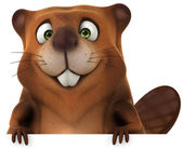 Funny Beaver — Stock Photo
