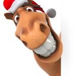 Horse in Santa hat — Φωτογραφία Αρχείου