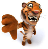 Fun tiger — Stock Photo