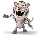 Fun white tiger — Stock Photo