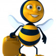 Fun bee — Stock Photo