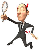 Evil businessman — Stock Photo