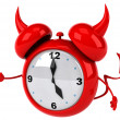Evil alarm clock — Stock Photo #37895753