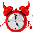 Evil alarm clock — Stock Photo #37895783