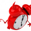 Evil alarm clock — Stock Photo #37895785