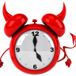 Evil alarm clock — Stock Photo #37896275