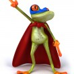 Super frog — Stock Photo #38326091
