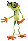 лягушка и очки — Стоковое фото