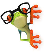 Frog and glasses — Stock Photo