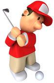 Golfspieler — Stockfoto