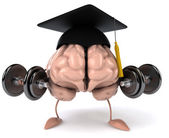 Brain and student — Stock Photo
