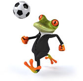 Frog playing football — Stock Photo
