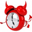Evil alarm clock — Stock Photo #41248225