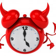 Stock Photo: Evil alarm clock