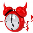 Evil alarm clock — Stock Photo #41249103