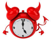 Evil alarm clock — Stock Photo
