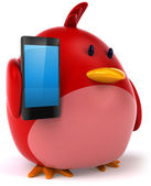 Red bird — Stock Photo