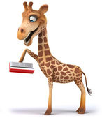 Fun giraffe — Stock Photo