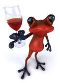 Czerwony żaba — Zdjęcie stockowe