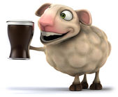 Sheep and stout — Stock Photo